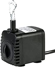 Eacam 600L/H 8W Submersible Water Pump, Electronic Fountain Water Pump for Aquarium Tabletop Fountains Pond Wa