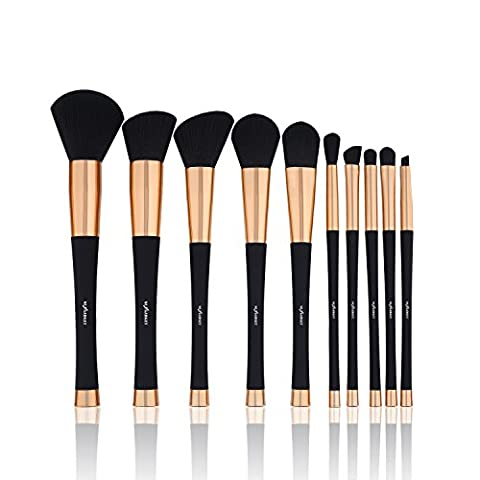 Nexgadget Make Up Pinsel, Start Makers 10 Stück Premium Pinselset Make-up Face Powder Foundation Creme Eyeliner Lip Rouge Bürste Kosmetik Bürsten-Satz