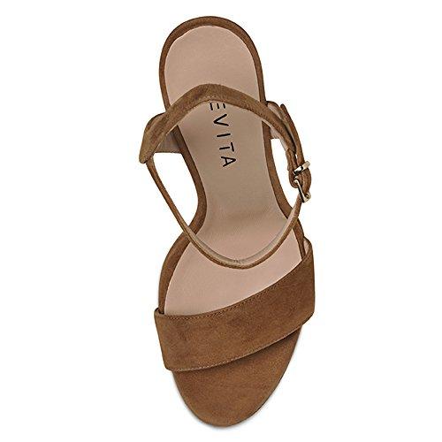 VALERIA sandales femme daim cognac