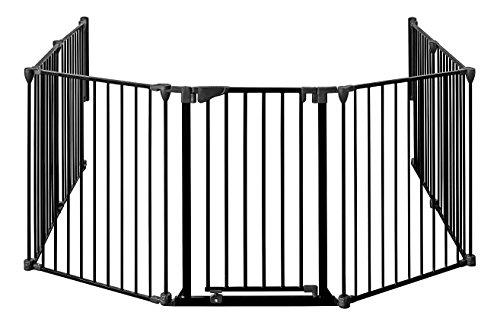 MARC - protection cheminée 190cm – 430cm, hauteur 78 cm | avec porte | 3_noir