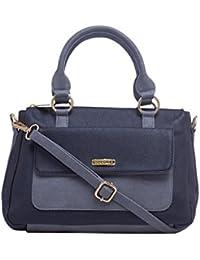 ESBEDA Black & Grey Solid Pu Synthetic Fabric Handbag For Women