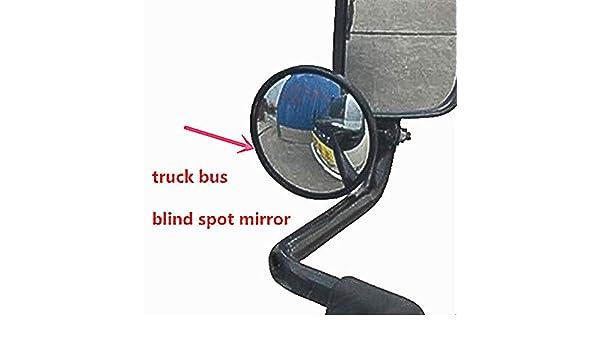 GJCKMKM Adjustable Blind Spot Mirror Truck//Bus Rearview Mirror Large Round Mirror Reversing Large Field of View Aux,14.5cm*1.5cm~2cm