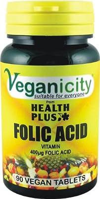 Veganicity Folic Acid 90 Tablets from Health + Plus Ltd