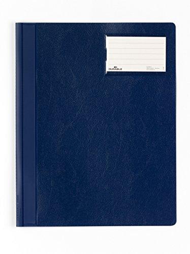 Durable+250007+Plastica+Blu+cartellina+con+fermafoglio