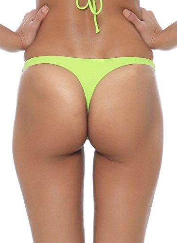 Ecute Damen Brazilian Bikini Slip Badehose Strand Mini Bikinihose Badeanzüge G-String Unterwäsche Grasgrün