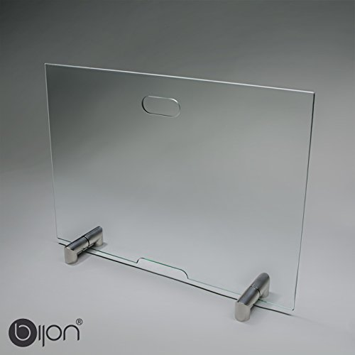 bijon® Kamin Funkenschutz aus Spezial-Sicherheitsglas HxB 600x900mm | M2 | Kamin Ofen Glas Funkenschutzgitter
