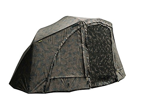 Fox Ultra 60 Brolly Ventec Ripstop System Camo 178x262x128cm - Zelt zum Karpfenangeln, Karpfenzelt, Angelzelt, Anglerzelt
