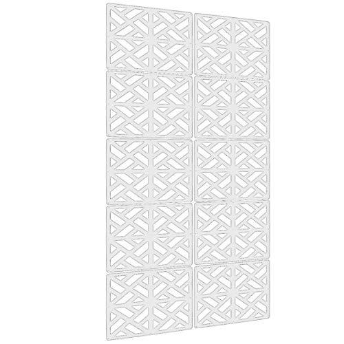 Raumteiler 4-panel-bildschirm (lchen Aufhängen Raumteiler, 4Stück Holz-Kunststoff 0,2in Dicken Bildschirm Panel für Wohnzimmer und beding Raum Small Sg)