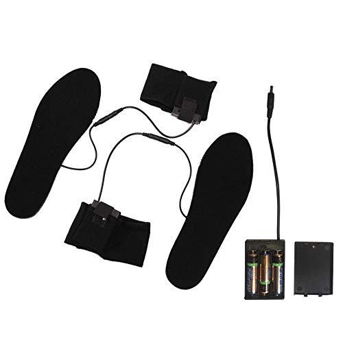 KOBWA Plantillas calefactadas a Pilas con Plantillas calefactadas Impermeables eléctricas Calentador de pies insuela Calentador para Mujeres Hombres – Ideal para Actividades al Aire Libre, Large