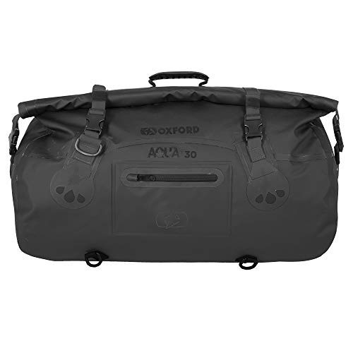 Color Negro y Fluorescente Oxford Aqua T70 Bolsa de Viaje para Motocicleta