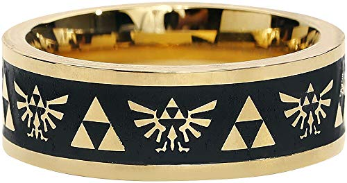 The Legend Of Zelda Hyrule - Triforce Logo Ring goldfarben M