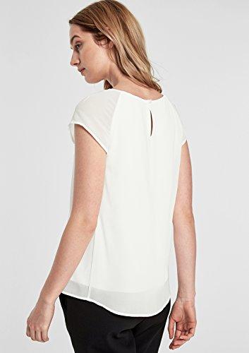 s.Oliver BLACK LABEL Damen T-Shirt peace cream