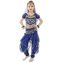 Magogo Traje de Danza del Vientre de Las niñas Traje de Carnaval Brillante  Fiesta Disfraces 7d931b9ff569