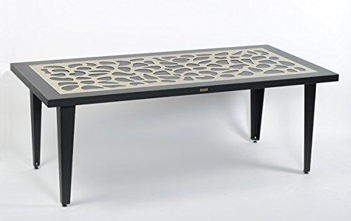 Styl'Métal 21 Table Flora 200x100 métal noir et taupe