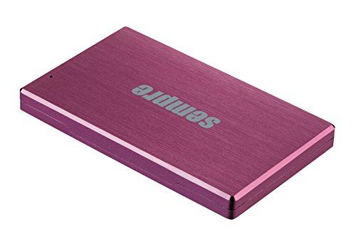 sempre EC2SUPK3-2000 extern Festplatten 2TB 6,4 cm (2,5 Zoll) SATA auf USB 3.0 mit gebürstetem Aluminium pink
