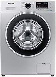 Samsung 8 Kg 1200 RPM Diamond Drum, Front Load Washing machine with Eco Bubble, Silver - WW80J4260GS, 1 Year M