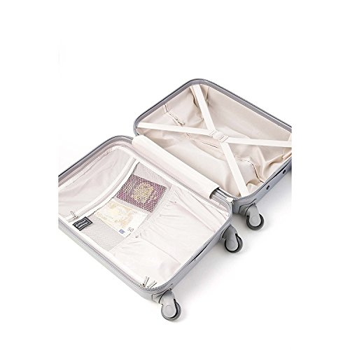 Aerolite Super Lightweight ABS Hard Shell Travel Carry On Cabin Hand Luggage Suitcase with 4 Wheels, Approved for Ryanair, Easyjet, British Airways, Virgin Atlantic, Flybe and Many More, 21″, Silver