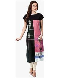 Muta Fashions American Crepe Multi Color Women Kurti (X-Large)