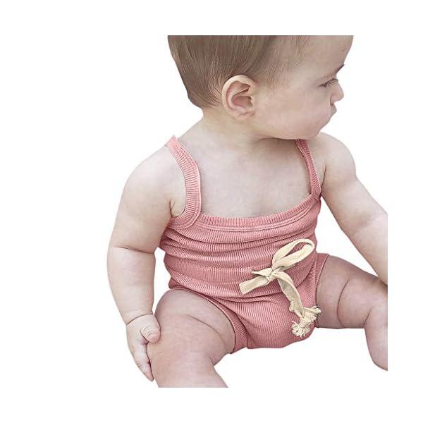 Pijama de bebé sin Mangas para niña, Pelele de bebé Elegante, Pelele de algodón de Pelele, Body de bebé Divertido, Body… 1