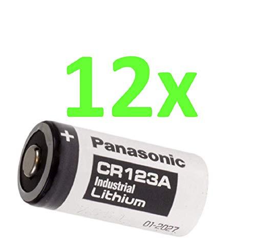 12x Panasonic 3V CR123 A DL123 A Batterien CR17345 Ultra Lithium Foto Akkuman.de Set (12 Stück) 12 Cr123a Lithium Batterien