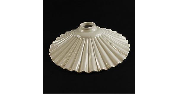Lampadario Rustico Ceramica : Ricambio paralume piatto in ceramica per lampadario lampada a