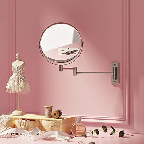 Songmics Kosmetikspiegel 10fach+Nomal Doppelseitiger Schminkspiegel BBM001 - 3