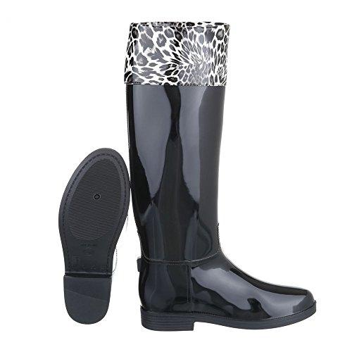 Ital-Design - Stivali di gomma Donna Nero