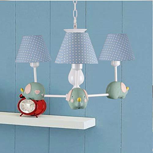 YINGYING 3 Kopf Cartoon Pendelleuchte, Kinderzimmer Deckenleuchter Leuchte, Hochtemperatur Gemalt Art-Deco-Hängelampe for Schlafzimmer Nacht Wohnzimmer (Color : E)