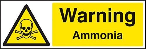 Caledonia Signs 24429G Warnschild Ammoniak, selbstklebend, Vinyl, 300 mm x 100 mm