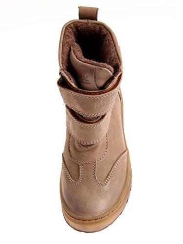 Bisgaard TEX Unisex-Kinder Boots Wolle Schneestiefel Winterschuhe Leder Taupe