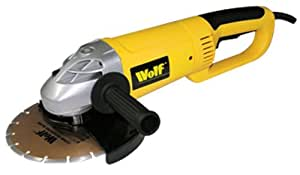 "Wolf 9"" (230mm) Angle Grinder 2350 watt - Supplied with Diamond Cutting Disc"