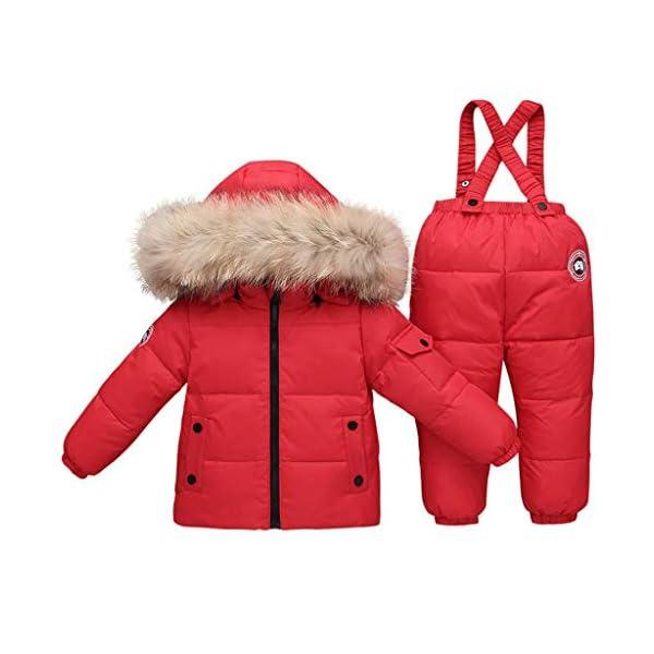 TYYM ski suit Traje De Bebé para La Nieve, Chaqueta con Capucha Monos De Una Pieza por 1-3 años Black-100cm 3