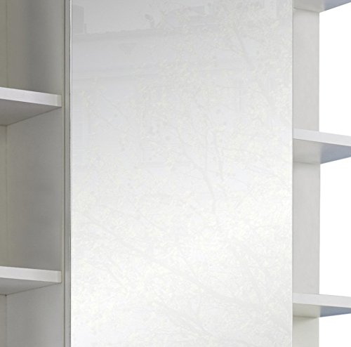 Badezimmer Schrank – Weiß Hochglanz 68 cm - 5