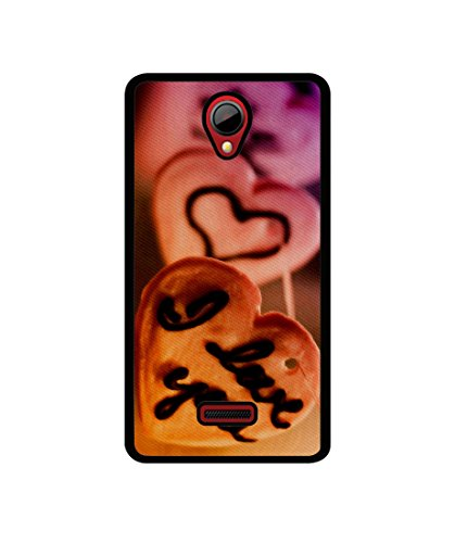 Casotec I Love you Design Canvas Printed Soft TPU Back Case Cover for Micromax Canvas Fun A76  available at amazon for Rs.349