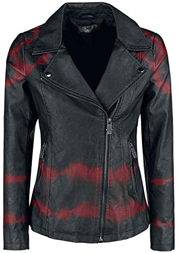 Black Premium by EMP All Over The Road Girl-Jacke schwarz/Bordeaux 3XL