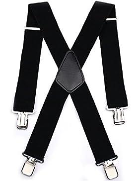 Tirantes para Hombres Tirantes Aulola 50MM Elastic Strutped Heavy Duty X Shape Tirante de Tirantes de Hombres...