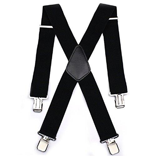 Hommes-Bretelles-Aulola-50MM-Elastique-Heavy-Duty-X-Forme-Mens-Pantalon-Brete