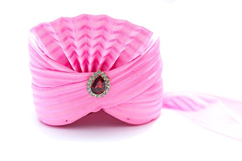Wedding Baarati Head Safa Sehra Turban - Pink (Size, 22)