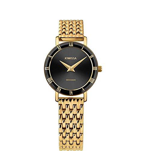 Jowissa Roma Swiss J2.288.S - Reloj de Pulsera para Mujer, Color Negro y Dorado