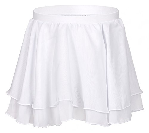 tanzmuster ballet skirt 'Elli' for children - made of soft an durable cotton blend and 2 layers of chiffon - elastic waistband - in pink, white, light blue, black, purple and hot pink.