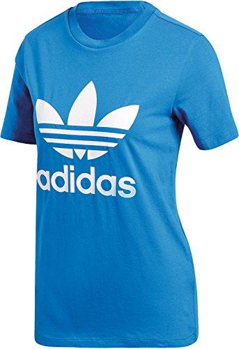 Adidas trefoil tee, maglietta donna, blu (azucie), 40