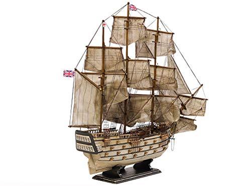 aubaho Modellschiff HMS Victory England Holz Schiffsmodell Schiff Segelschiff 86cm
