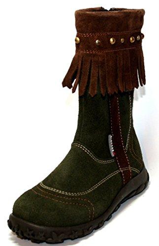 Richter 42.3877.3821–chaussures bottes fille Vert - Vert foncé
