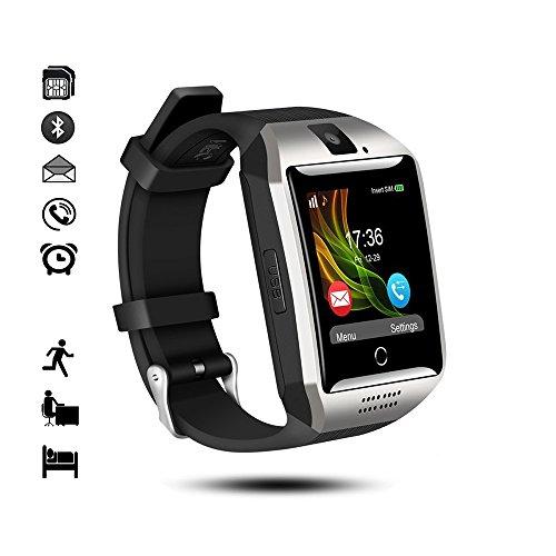 Bluetooth Smart Watch, IDEALBY Android IOS Smartwatch Curved-Screen Orologio per uomo,con fotocamera,SIM Slot per scheda TF, pedometro,monitor del sonno per iPhone,Samsung,Huawei,Sony,Google(Argento)