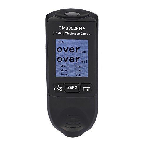 KKmoon CM8802FN + Handheld Spessore del Rivestimento Digital Calibro del Tester di Fe / NFe Coatings TFT