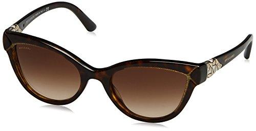 Bulgari Damen 0Bv8156B 535313 54 Sonnenbrille, Braun (Havana/Brown)
