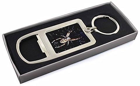 Spider on His Dew Drop Web Craft Bottle Opener Keyring Gift