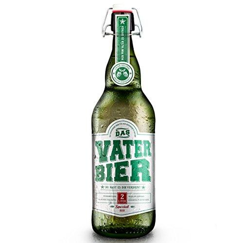 Vaterbier (1 x 2 Liter) Bügelflasche, Vater Geschenk, Bier Geschenk zur Babytaufe