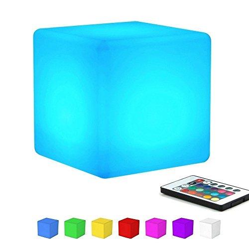 """LED Ball Stimmungslicht, EONANT Globe Swimming Pool Floating Light Wasserdicht 16 Modus wechselnde Farbe mit Fernbedienung Kinder LED Nachtlicht Innen Außenbeleuchtung (15cm/5.91\""""-Cube)"""