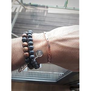 Armreif / Armspange / Armband aus reinem Kupfer, Größenverstellbar, mit Punkten, Herren